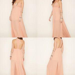 F21 - Lace Panel Maxi Dress