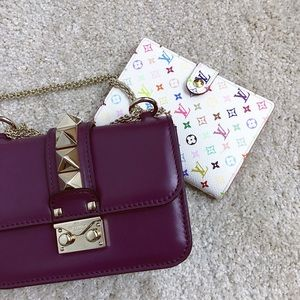 Valentino purple Glam lock shoulder bag