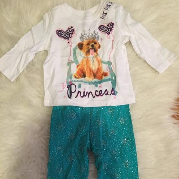 Children's Place Other - Sparkly Princess top with leggings