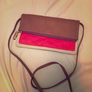 Gap Leather Crossbody/Clutch Bag