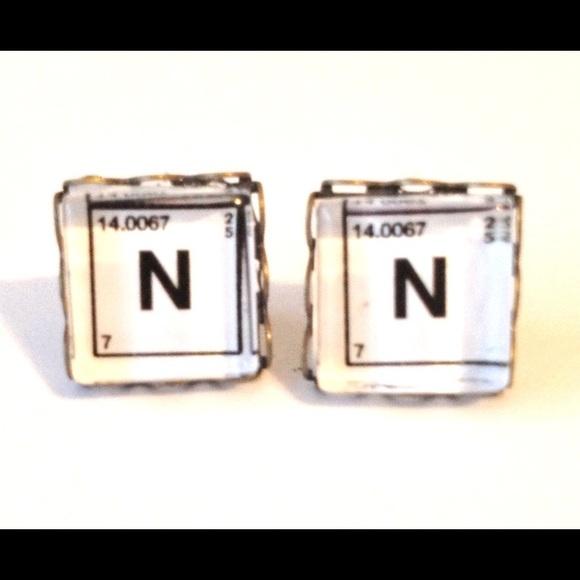 Rackfocus jewelry periodic table earrings post handmade n nitrogen periodic table earrings post handmade n nitrogen urtaz Images