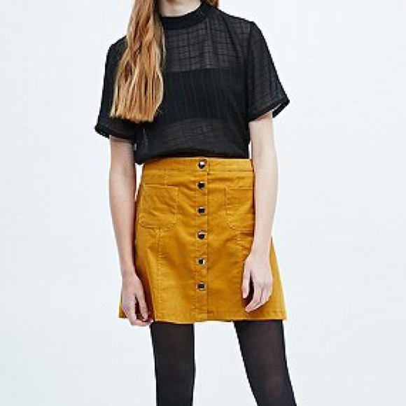47b199b844fb71 Urban Outfitters BDG mustard corduroy skirt. M_580159632de512c44c034646