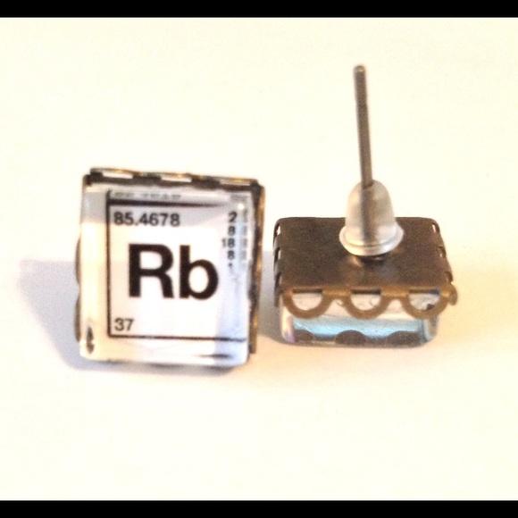 Rackfocus jewelry periodic table earrings handmade rb rubidium periodic table earrings handmade rb rubidium posts urtaz Images