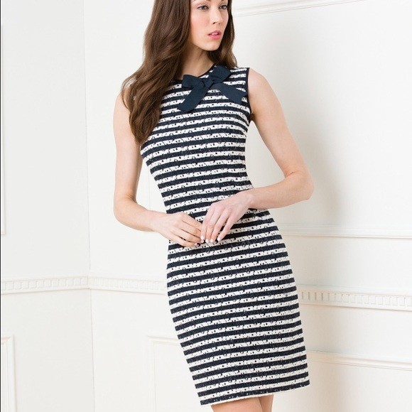 833e331f59c Karl Lagerfeld Dresses   Skirts - NWOT Karl Lagerfeld Paris Striped Lace  Dress ...