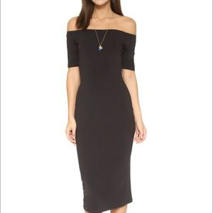 The Fifth Label midi fitted off shoulder dress
