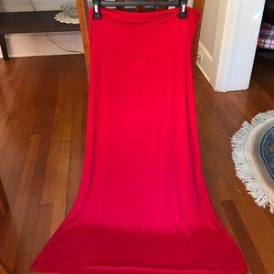 moa usa Dresses & Skirts - Plus sized Red Maxi Skirt. B027