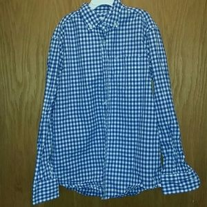 Crew Cuts Blue Gingham Shirt Size 12