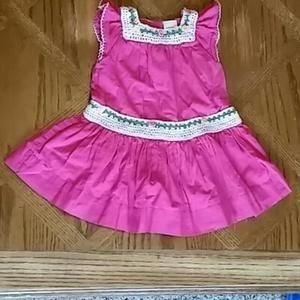 Baby Gap Dresses - Baby Gap 3-6 month Pink Crochet Dress