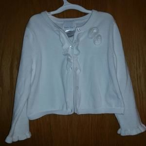 Other - White Button - Up Cardigan 4T Sophie Rose