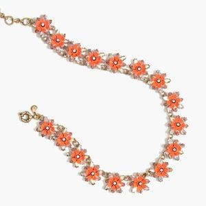 J.Crew Neon Floral Necklace