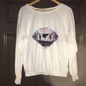 Wildfox white label velour sweatshirt size Small