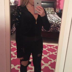 Juicy Couture Sweaters - Juicy Couture Black Fleece Zip Up (P)