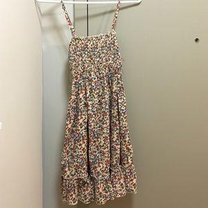 Flower print sun dress