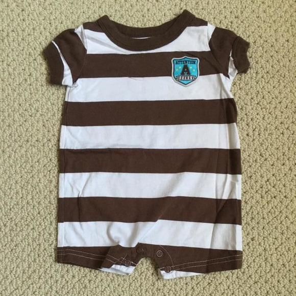 Just One You by Carter's Other - Brown and white onesie