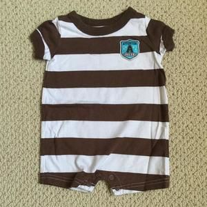 Just One You by Carter's Shirts & Tops - Brown and white onesie