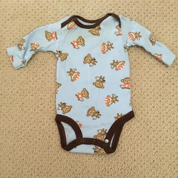 Just One You by Carter's Other - Football Monkey onesie