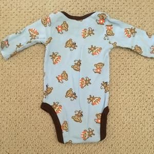Just One You by Carter's Shirts & Tops - Football Monkey onesie