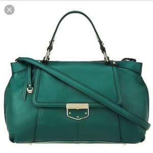 b makowsky Handbags - B. Makowsky green zip satchel