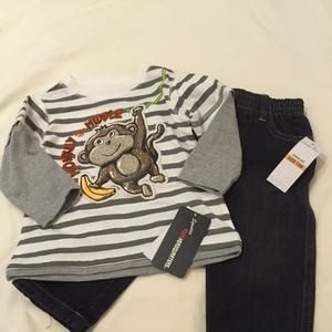 Other - NWT 12m Monkey Outfit