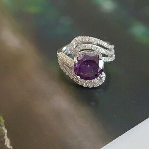 Elite Jewelry Studio  Jewelry - 💗REDUCED💗925 Amethyst & Sapphire Ring NWOT