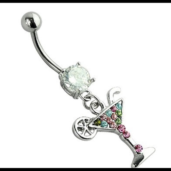 Martini Glass Belly Button Ring Boutique