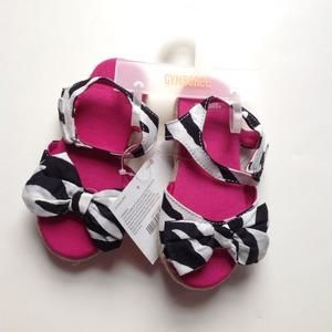 Gymboree Other - Black and white zebra sandals