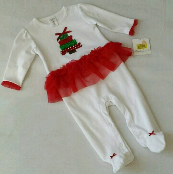 103a5a826794 Dresses | Nwt Christmas Tree Outfit Romper Tutu Skirt Red | Poshmark
