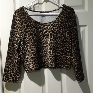 Fashion to Figure Tops - Sexy leopard print crop top
