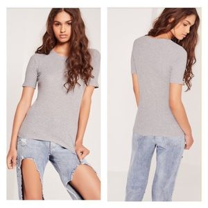 Missguided Tops - ❌NO OFFERS❌MISSGUIDED PERFECT GREY T SHIRT