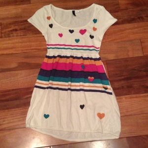 H&M Tops - H&M stripes and hearts top