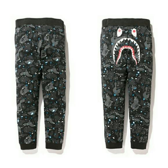 33479ba8f A Bathing Ape Pants | Bape Space Camo Shark Joggers | Poshmark