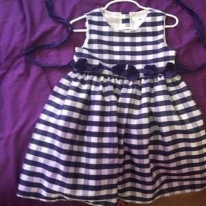 Joe & Elle Other - Navy and white plaid dress with bows