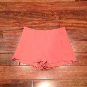Heritage 1981 Pants - Heritage 1981 salmon/peach high waisted shorts
