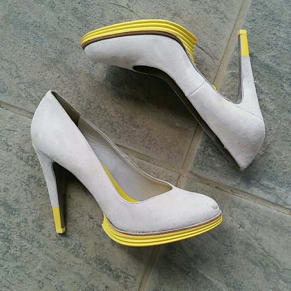 52a9d41c8 Cole Haan Shoes | Lunargrand Chelsea Suede Pump Yellow | Poshmark