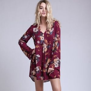 Valentine ready Fall Floral swing dress