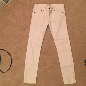 Size 25 free people skinny white jeans