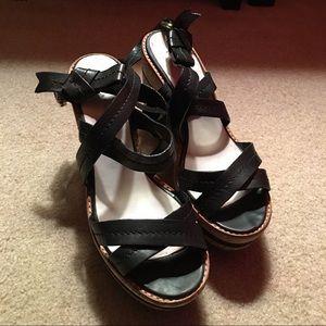 Marc Jacobs Black Strappy Platform Sandals
