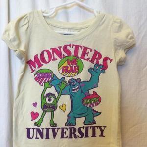 4T Monster University tshirt