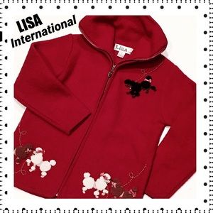 Lisa International Jackets & Blazers - LISA INTERNATIONAL Boiled Wool Poodles Jacket - Sm