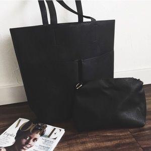 Revolt Society Handbags - Restocked! • Black Shopper Tote •