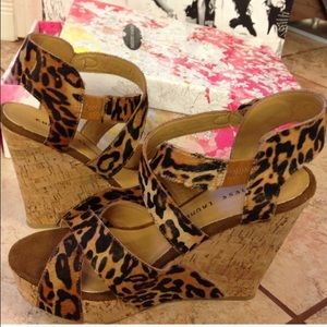 Chinese Laundry Leopard Wedges
