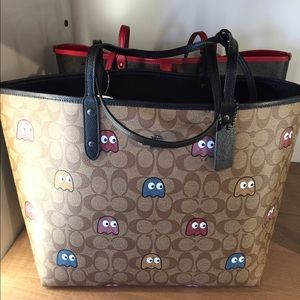 1dc7607a449c Coach Bags - COACH PAC-MAN Ghost Reversible City Tote
