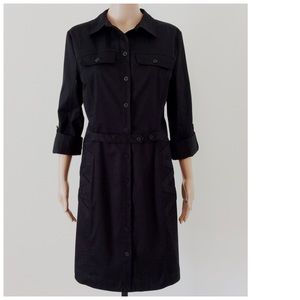 Nicole by Nicole Miller Dresses & Skirts - Nicole Miller Black Button Down Dress Size 10