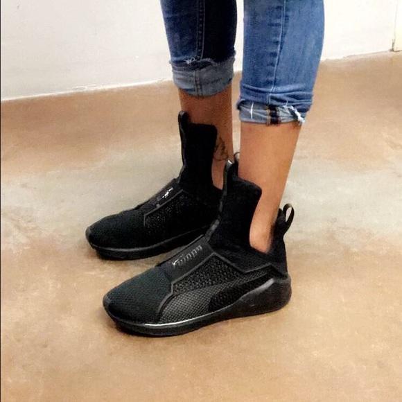 pretty nice 8b08e 136ce •Rihanna• Fenty X Puma trainers black