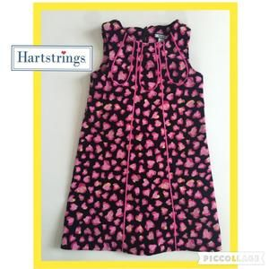 Hartstrings Other - Black and Pink sleeveless corduroy dress by Hartstrings- heart print, high end quality sz 5