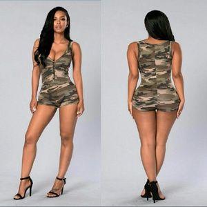 e4b4bf4968 Dresses   Skirts - Sleeveless Camouflage ShortRomper Bodysuit