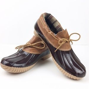 cape Robbin Shoes - Size 8 & 6 Camel Brown Rain Duck Shoes Rubber NEW