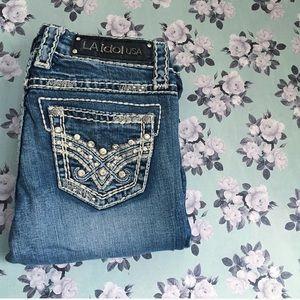 LA Idol Denim - LA Idol Rhinestone Jeans - Size 3