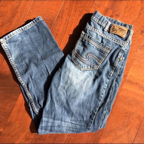 girls silver jeans - Jean Yu Beauty