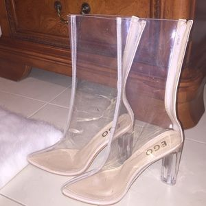 Shoes - Clear Perspex Ankle Boots